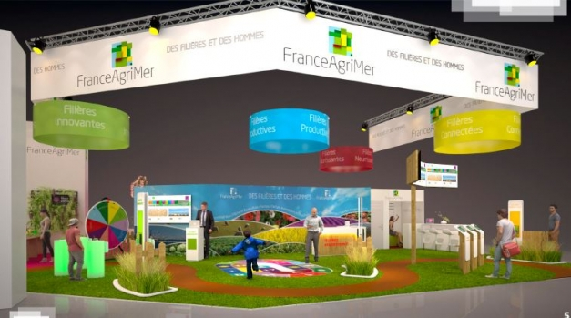 maquette stand FranceAgriMer - SIA 2018