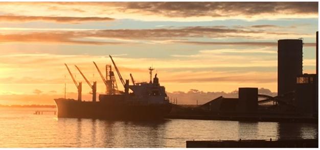 Chargement de blé au Port de La Pallice pour l'exportation