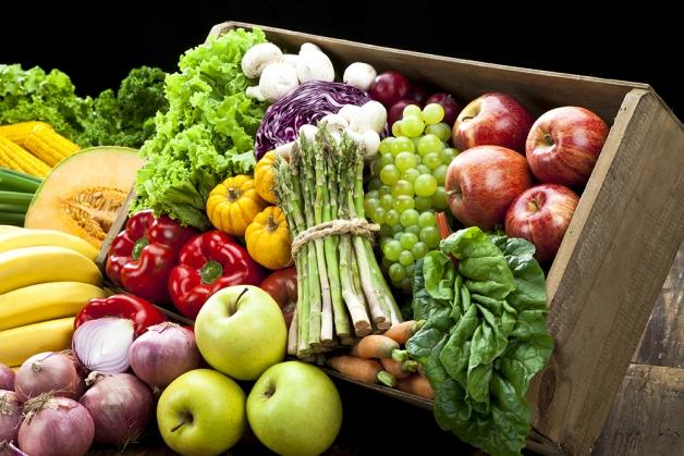 photo d'un assortiment de fruits et légumes