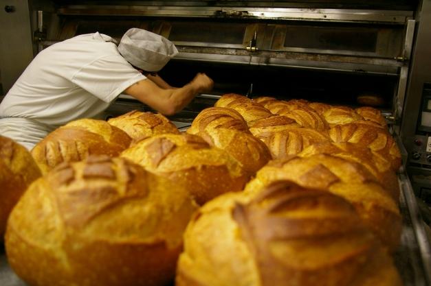 Boulangerie.Cuisson du pain
