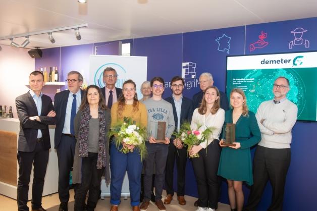 Lauréats Prix Demeter 2020 sur le stand de FranceAgriMer au SIA2020