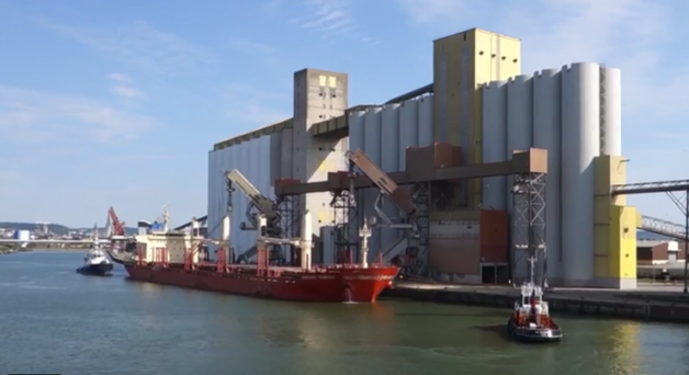 Port de Rouen, principal port d'exportation des céréales françaises
