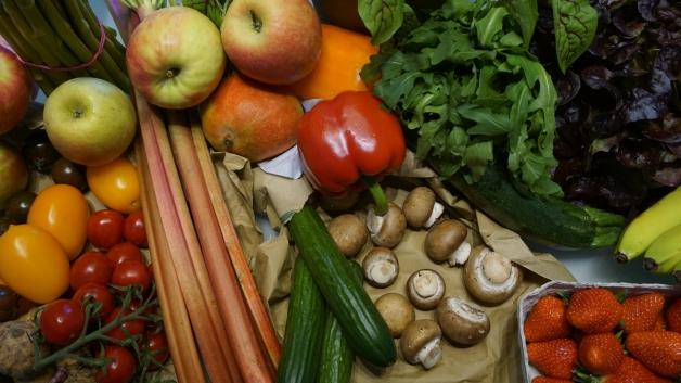 assortiments de fruits et de légumes
