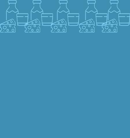 pictos lait sur fond bleu