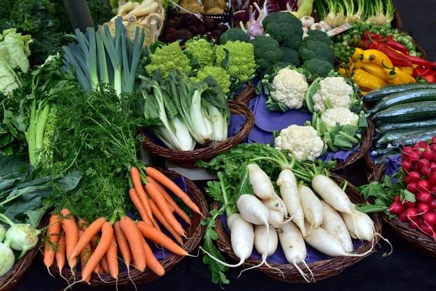 Etal de légumes d'hiver