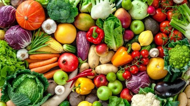 Photo d'un ensemble de fruits et de légume