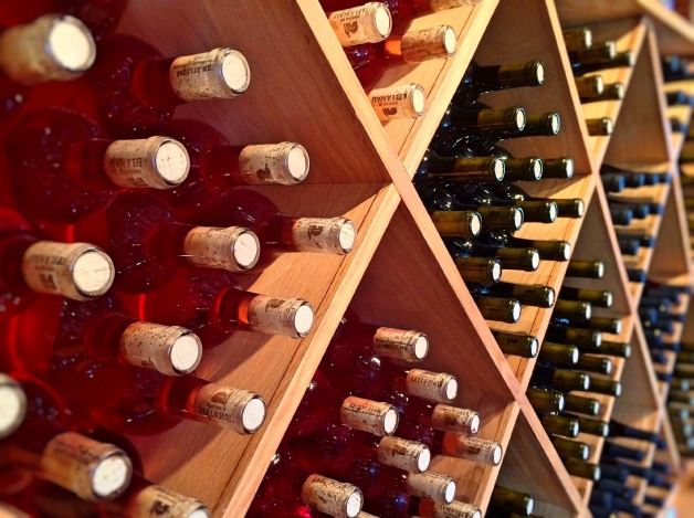 bouteil de vin rosé