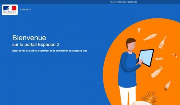 image de l'écran d'accueil di site expadon 2
