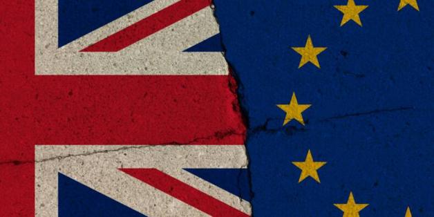 Drapeau UE et Grande bretagne