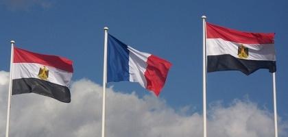 Drapeau de la France et de l'Egypte