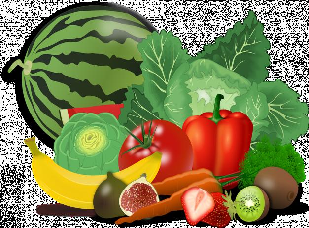 assortiment de fuits et légumes