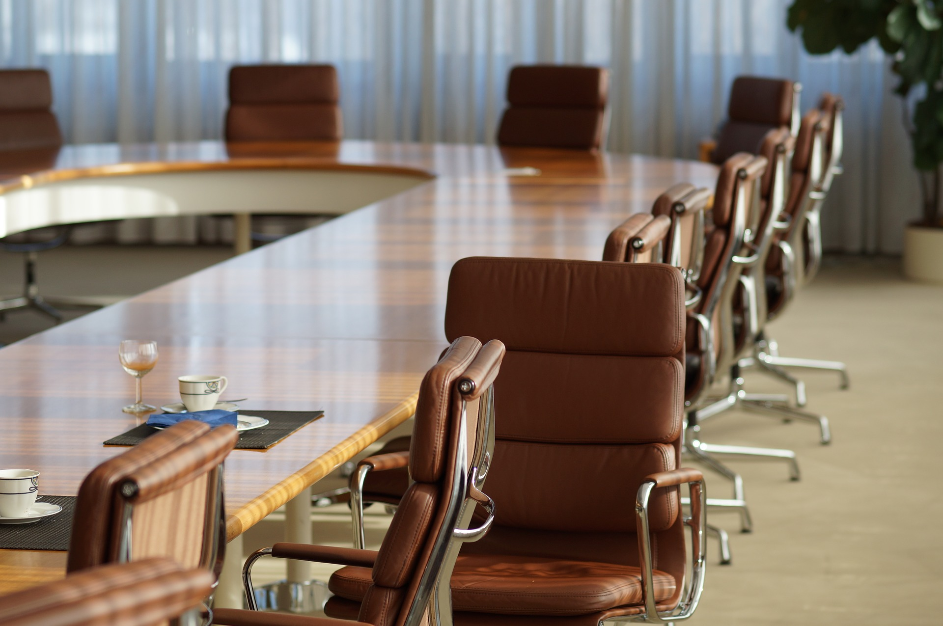 photo d'une salle de réunion vide