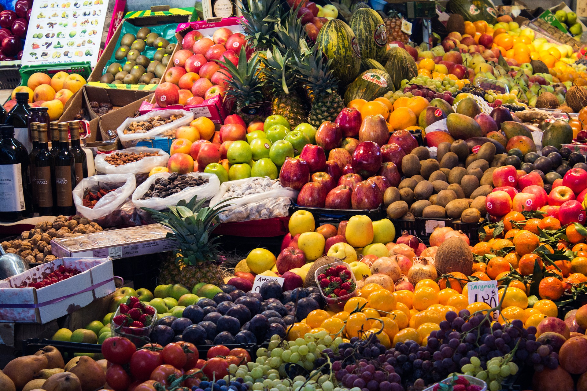 assortiment de fruit et de légumes